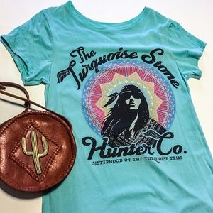 Spell & The Gypsy Collective Tops - Spell And The Gypsy RARE Turquoise Stone Tee